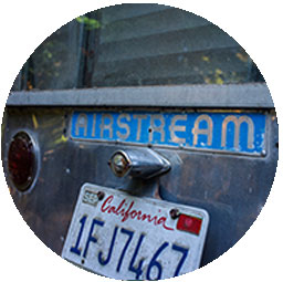 license plate on back of airstream